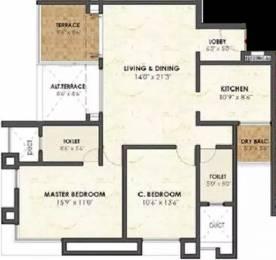 1206 sqft, 2 bhk Apartment in Malpani Greens Wakad, Pune at Rs. 22000