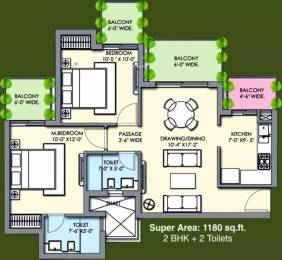 1180 sqft, 2 bhk Apartment in Supertech Hues Sector 68, Gurgaon at Rs. 10000