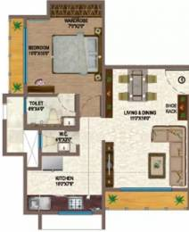 717 sqft, 1 bhk Apartment in Ace Aviana Thane West, Mumbai at Rs. 73.0000 Lacs