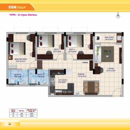 1310 sqft, 3 bhk Apartment in Builder Project New perungalathur, Chennai at Rs. 52.4000 Lacs