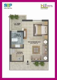 460 sqft, 1 bhk Apartment in SBP Homes Sector 126 Mohali, Mohali at Rs. 14.9000 Lacs