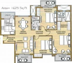1625 sqft, 3 bhk Apartment in ATS Le Grandiose Sector 150, Noida at Rs. 89.3750 Lacs