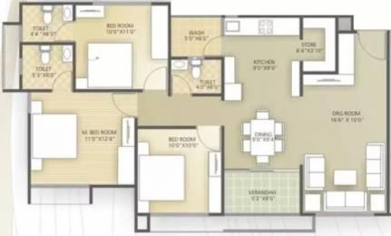 1602 sqft, 3 bhk Apartment in Shri Shyam Hills Ranip, Ahmedabad at Rs. 12000