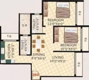 1050 sqft, 2 bhk Apartment in Adinath Sapphire Ulwe, Mumbai at Rs. 74.0000 Lacs