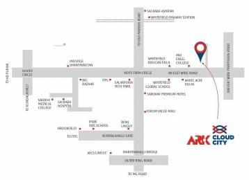 1270 sqft, 2 bhk Apartment in Ark Cloud City Kadugodi, Bangalore at Rs. 72.0000 Lacs