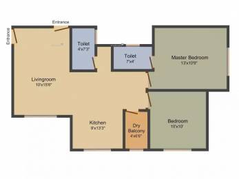924 sqft, 2 bhk Apartment in RK Aromatic Breeze Wakad, Pune at Rs. 60.0000 Lacs