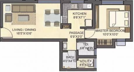 585 sqft, 1 bhk Apartment in Lodha Casa Bella Dombivali, Mumbai at Rs. 13000