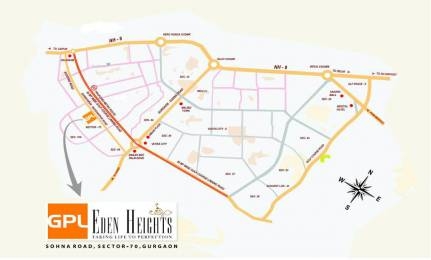 1510 sqft, 2 bhk Apartment in GPL Eden Heights Sector 70, Gurgaon at Rs. 1.1000 Cr
