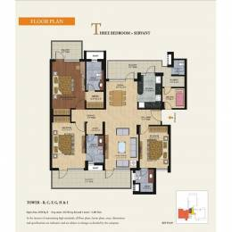2150 sqft, 3 bhk Apartment in GPL Eden Heights Sector 70, Gurgaon at Rs. 1.3600 Cr