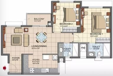 1216 sqft, 2 bhk Apartment in Prestige Lakeside Habitat Varthur, Bangalore at Rs. 80.0000 Lacs