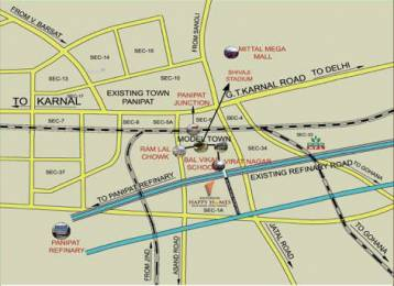 562 sqft, 2 bhk Apartment in Builder Project Model Town Road, Panipat at Rs. 18.4300 Lacs