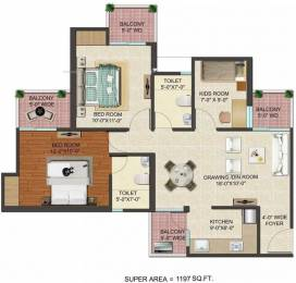 1197 sqft, 2 bhk Apartment in JM Florence Techzone 4, Greater Noida at Rs. 38.4836 Lacs