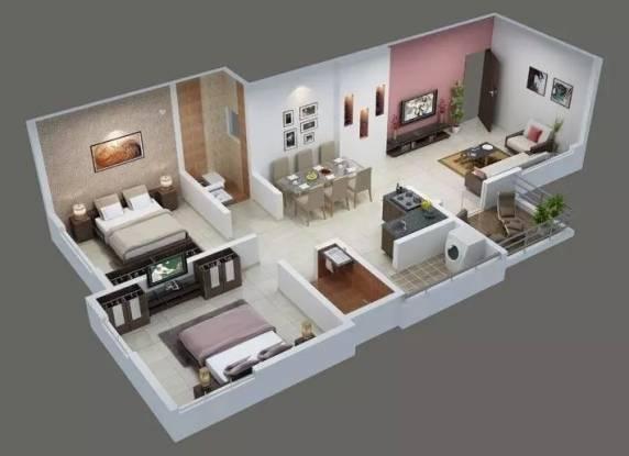 961 sqft, 2 bhk Apartment in PS Splendour Park Wagholi, Pune at Rs. 45.0000 Lacs