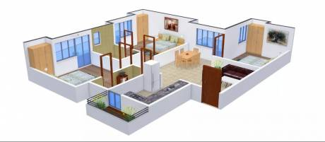 1196 sqft, 3 bhk Apartment in Radicon Vedantam Sector 16C Noida Extension, Greater Noida at Rs. 38.1200 Lacs
