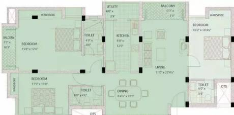 1515 sqft, 3 bhk Apartment in Prince Greenwoods Ambattur, Chennai at Rs. 17000