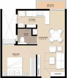 607 sqft, 1 bhk Apartment in Nebula Aavaas Miyapur, Hyderabad at Rs. 20.0000 Lacs