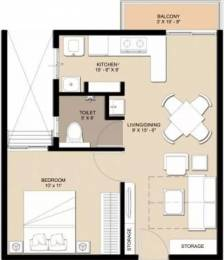 607 sqft, 1 bhk Apartment in Nebula Aavaas Miyapur, Hyderabad at Rs. 20.6830 Lacs
