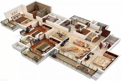 2409 sqft, 4 bhk Apartment in Homeland Heights Sector 70, Mohali at Rs. 65000
