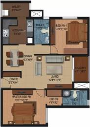 1279 sqft, 2 bhk Apartment in Century Breeze Kogilu, Bangalore at Rs. 72.8500 Lacs