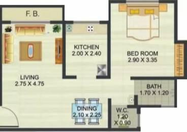 450 sqft, 1 bhk Apartment in Reliable Heights Nala Sopara, Mumbai at Rs. 18.0000 Lacs