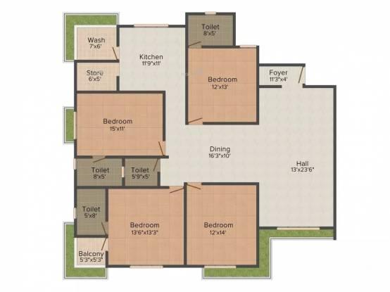 2885 sqft, 4 bhk Apartment in Raghuvir Star Galaxy Athwa, Surat at Rs. 25000