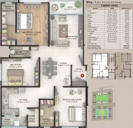 2162 sqft, 3 bhk Apartment in Happy Home Celebrity Greens Vesu, Surat at Rs. 1.1675 Cr