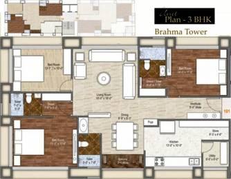 2311 sqft, 3 bhk Apartment in Rameshwaram Dev Bhoomi Bhimrad, Surat at Rs. 25000