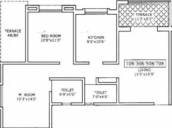 915 sqft, 2 bhk Apartment in Walhekar Aishwarya Laxmi Wagholi, Pune at Rs. 40.0000 Lacs