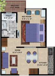 520 sqft, 1 bhk Apartment in Express Hare Krishna Orchid Vrindavan, Mathura at Rs. 18.2100 Lacs