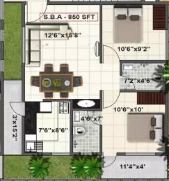 850 sqft, 2 bhk Apartment in SV Pleasanta Sarjapur Road Post Railway Crossing, Bangalore at Rs. 28.9000 Lacs