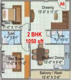 1050 sqft, 2 bhk Apartment in Hilife Triflora Varthur, Bangalore at Rs. 31.5000 Lacs