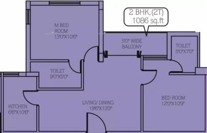 1086 sqft, 2 bhk Apartment in Daffodil La Bella Vista Rajarhat, Kolkata at Rs. 57.0150 Lacs