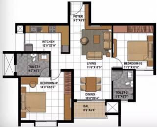 1168 sqft, 2 bhk Apartment in Prestige Bagamane Temple Bells Rajarajeshwari Nagar, Bangalore at Rs. 75.0000 Lacs