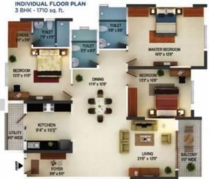 1710 sqft, 3 bhk Apartment in Mantri Serenity Subramanyapura, Bangalore at Rs. 28000