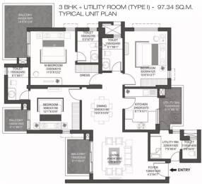 1816 sqft, 3 bhk Apartment in Godrej Summit Sector 104, Gurgaon at Rs. 23000