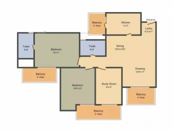 1465 sqft, 2 bhk Apartment in Ashiana Mulberry Sector 2 Sohna, Gurgaon at Rs. 79.3700 Lacs