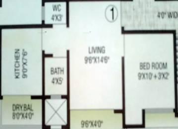 580 sqft, 1 bhk Apartment in Vinay Classic Mira Road East, Mumbai at Rs. 53.0000 Lacs