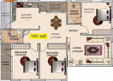 1451 sqft, 3 bhk Apartment in AR SM Tranquil Whitefield Hope Farm Junction, Bangalore at Rs. 50.0000 Lacs