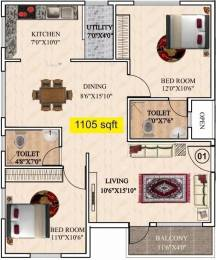 1105 sqft, 2 bhk Apartment in AR SM Tranquil Whitefield Hope Farm Junction, Bangalore at Rs. 38.6000 Lacs