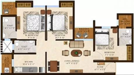 812 sqft, 3 bhk Apartment in Olympeo Riverside Phase 2 Neral, Mumbai at Rs. 34.8146 Lacs