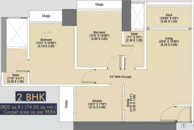 1042 sqft, 2 bhk Apartment in Dimples 73 East Kandivali West, Mumbai at Rs. 2.0000 Cr