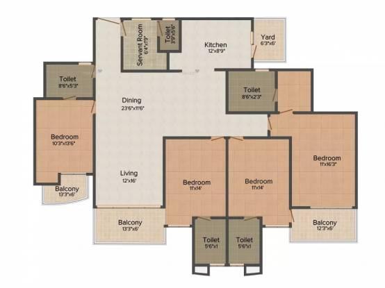 2535 sqft, 4 bhk Apartment in Mapsko Casa Bella Sector 82, Gurgaon at Rs. 25000