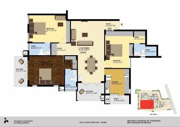 919 sqft, 2 bhk Apartment in Builder Project Little Mount, Chennai at Rs. 1.2130 Cr