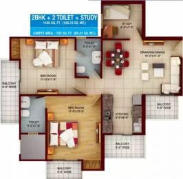 1165 sqft, 2 bhk Apartment in Samridhi Luxuriya Avenue Sector 150, Noida at Rs. 45.9010 Lacs