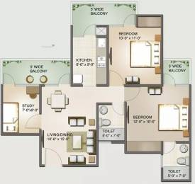 930 sqft, 2 bhk Apartment in Aims Angel Golf Avenue II Sector 75, Noida at Rs. 50.5000 Lacs