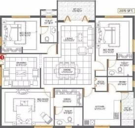 2070 sqft, 3 bhk Apartment in Sri Aditya Sunshine Hitech City, Hyderabad at Rs. 1.3000 Cr