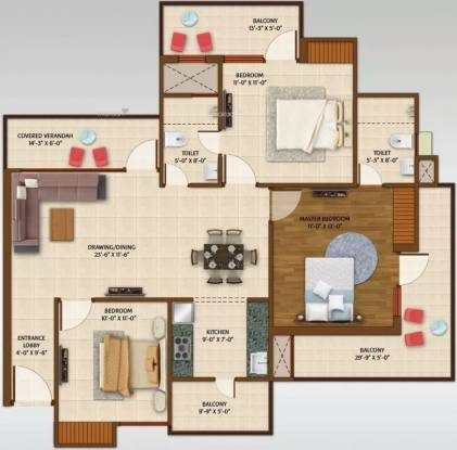 1550 sqft, 3 bhk Apartment in Ace Aspire Techzone 4, Greater Noida at Rs. 53.5680 Lacs