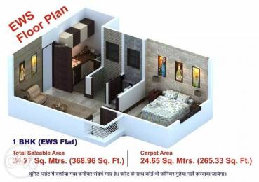 369 sqft, 1 bhk Apartment in Builder Royal Residency Nawalgarh Road, Sikar at Rs. 8.4900 Lacs