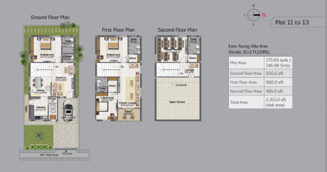 1820 sqft, 3 bhk Villa in Builder Project Mallampet, Hyderabad at Rs. 82.0000 Lacs