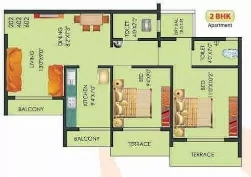 810 sqft, 2 bhk Apartment in Kalp Nisarg Badlapur East, Mumbai at Rs. 28.5111 Lacs